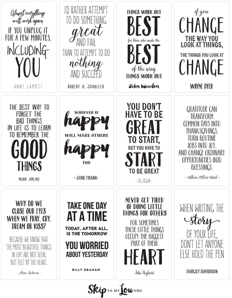 Motivational Quotes To Inspire And Encourage   Skip To My Lou - Free Printable Quote Stencils