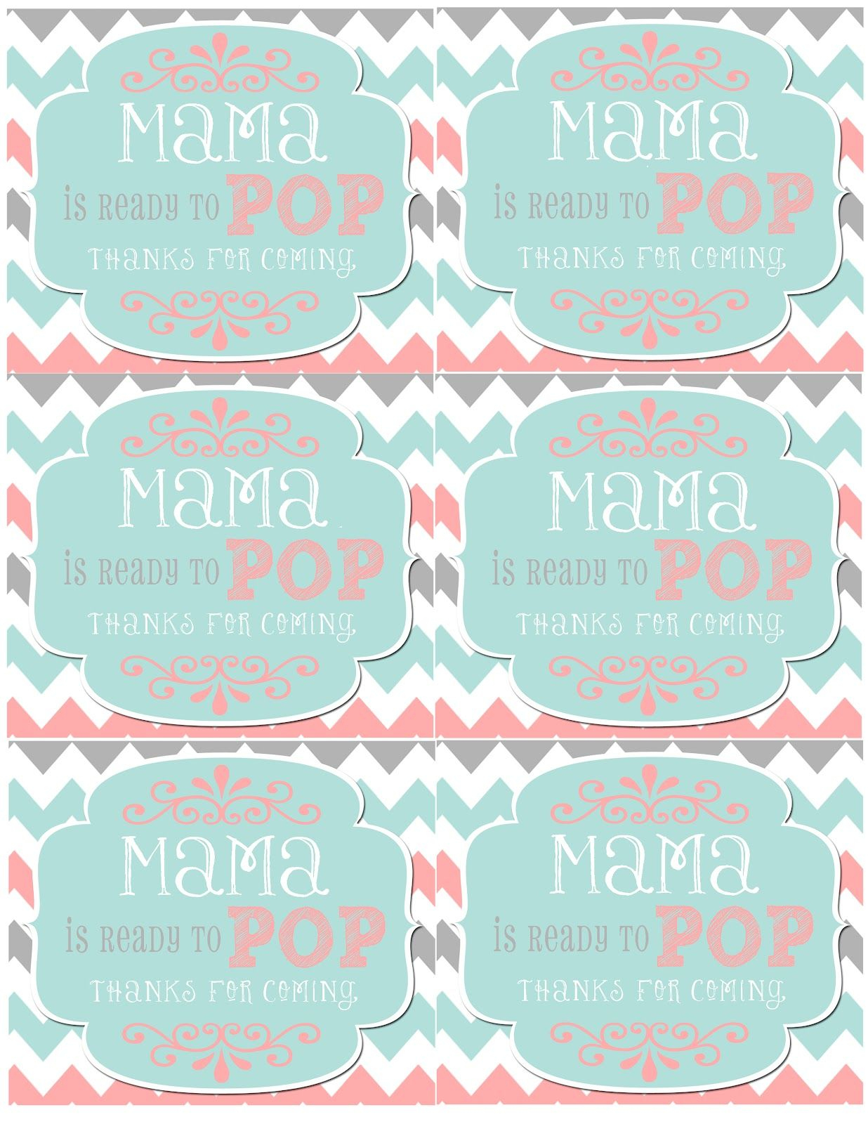Mrs. This And That: Baby Shower, Banner, Free Downloads Yipee - Free Printable Ready To Pop Labels