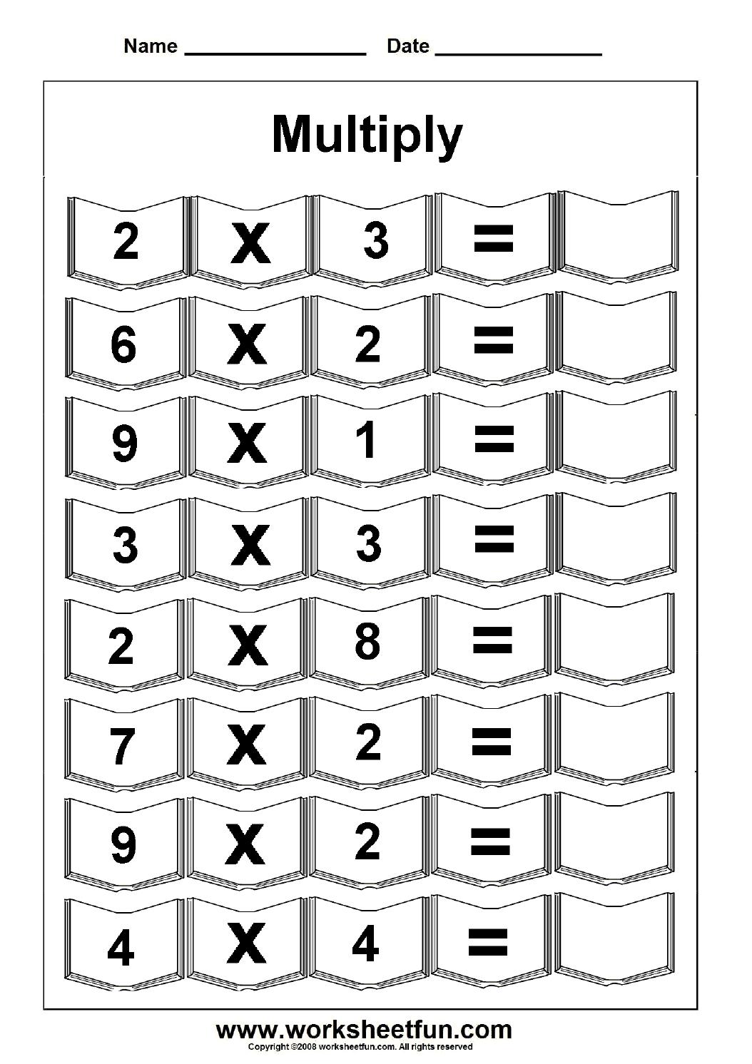 Multiplication – 5 Worksheets / Free Printable Worksheets – Worksheetfun - Free Printable Multiplication Worksheets