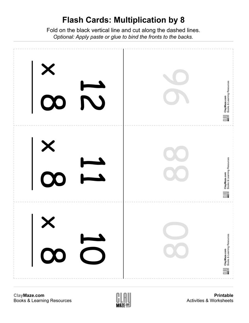 Multiplication Flashcards (0-12) | Free Printable Children's - Free Printable Multiplication Flash Cards