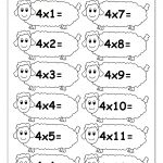 Multiplication Times Tables Worksheets – 2, 3 & 4 Times Tables   Free Printable Multiplication Fact Sheets