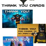 Musings Of An Average Mom: Lego Batman Thank You Cards   Free Printable Lego Batman