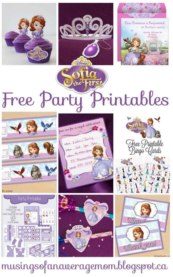 Sofia The First Cupcake Toppers Free Printable