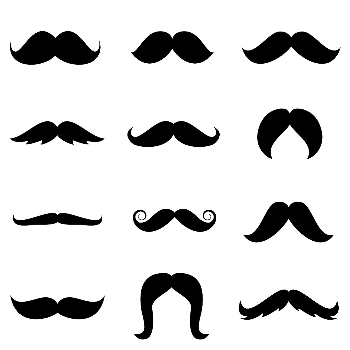 Mustache Template Free Printable | Stenciled Drop Cloth Pillow - Free Printable Mustache