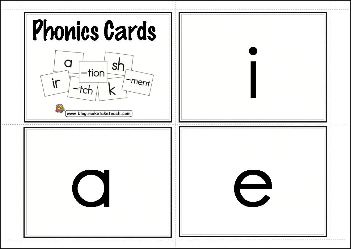 My Favorite Resources For Dyslexia And Learning Disabilities - Free Printable Blending Cards