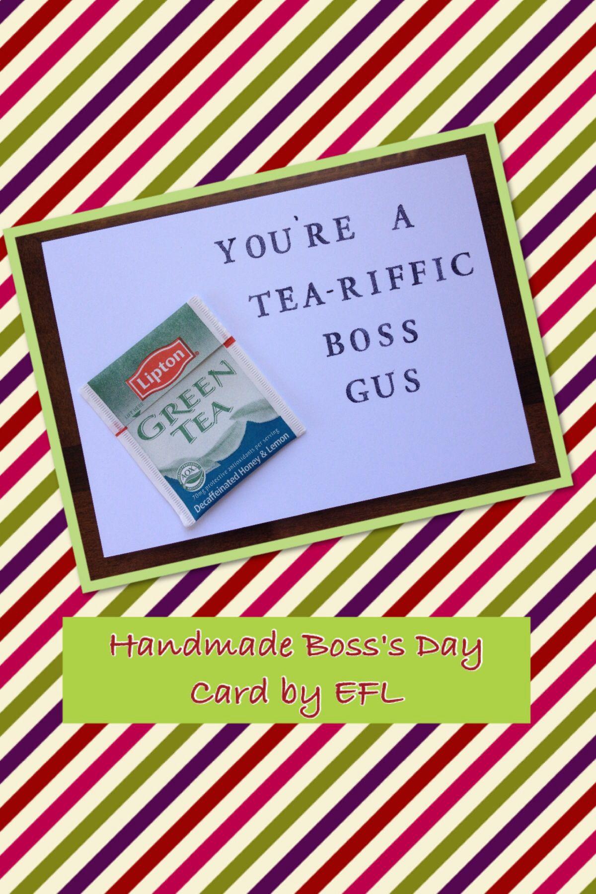 My Handmade Boss's Day Cardefl. | My Homemade Cardsefl - Boss Day Cards Free Printable