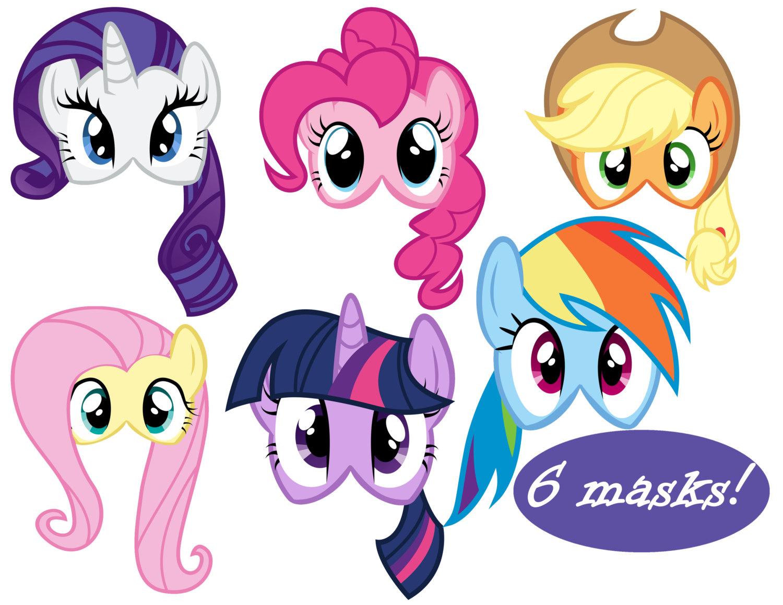 My Little Pony Masks 6   Etsy - Free My Little Pony Printable Masks