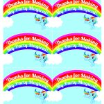 My Little Pony Rainbow Dash Birthday Party Printables | Party Favors   Free Printable Thank You Tags For Birthday Favors