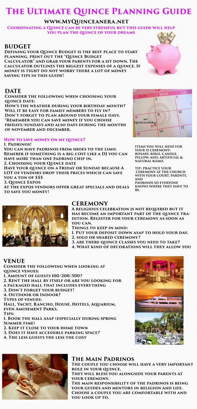 My Quinceañera: Planning Guide - Free Quinceanera Planner Printable