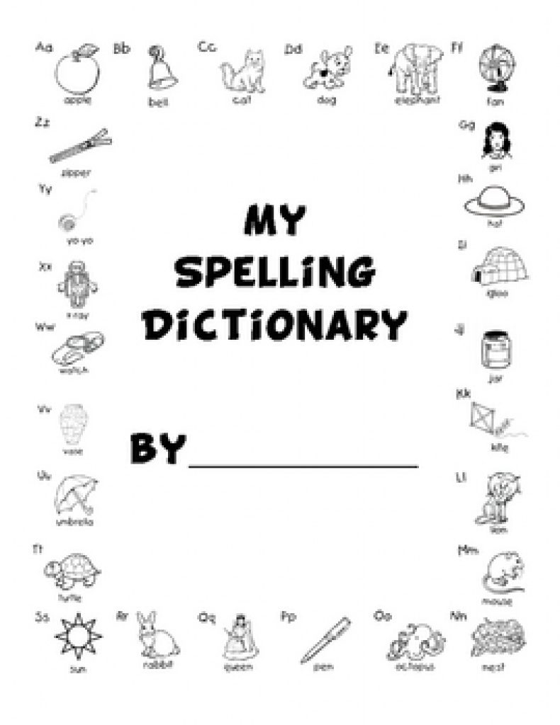 My Spelling Dictionary Printable Free | Free Printable - My Spelling Dictionary Printable Free