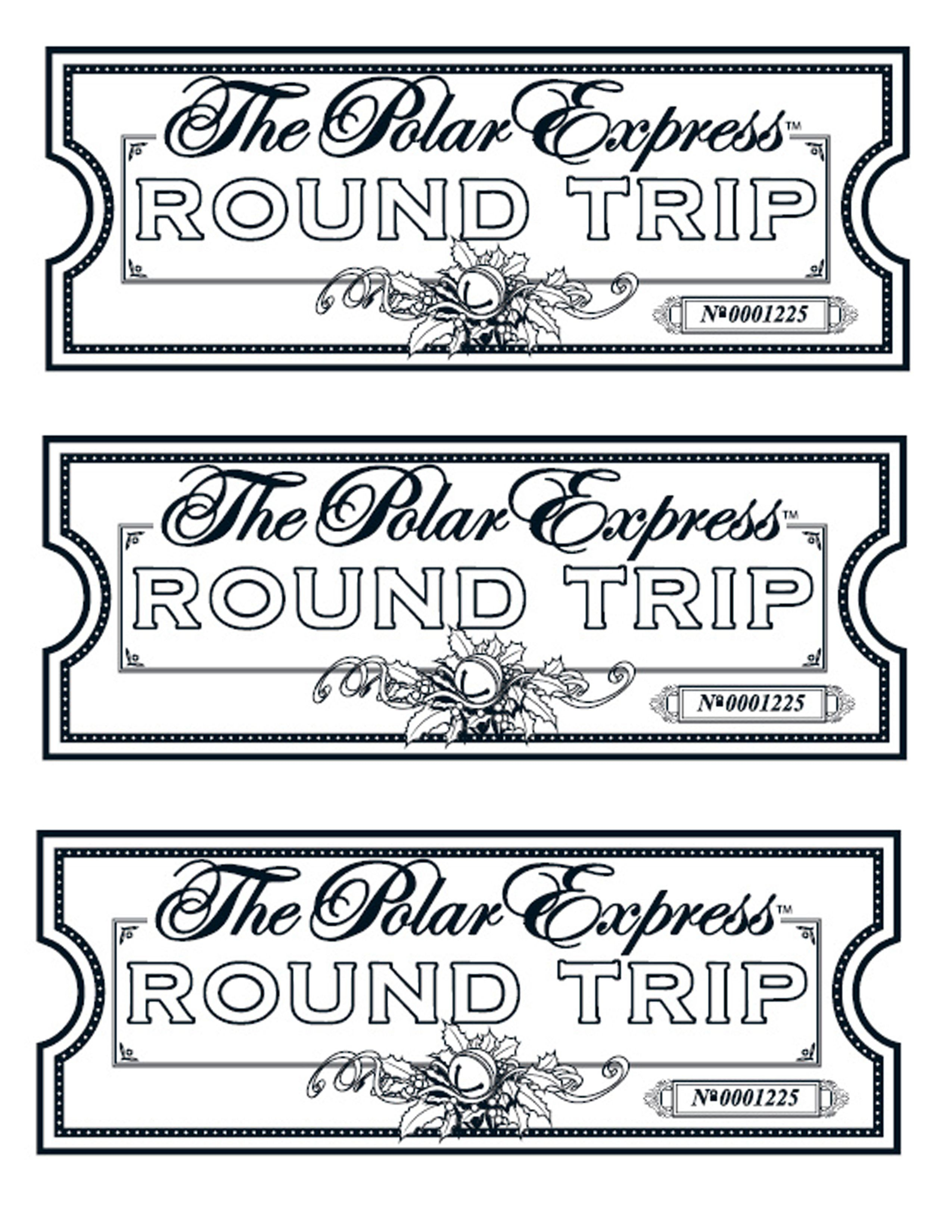 My Take On The Polar Express Tickets. We Printed Them On Gold Paper - Free Polar Express Printable Tickets