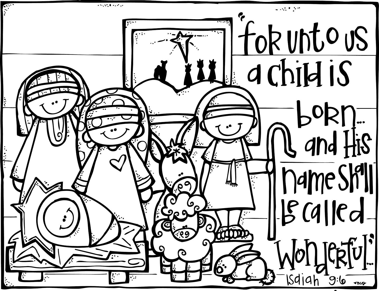 Nativity Printable.great To Color Or Even Frame Or Turn Into A - Free Printable Christmas Story Coloring Pages