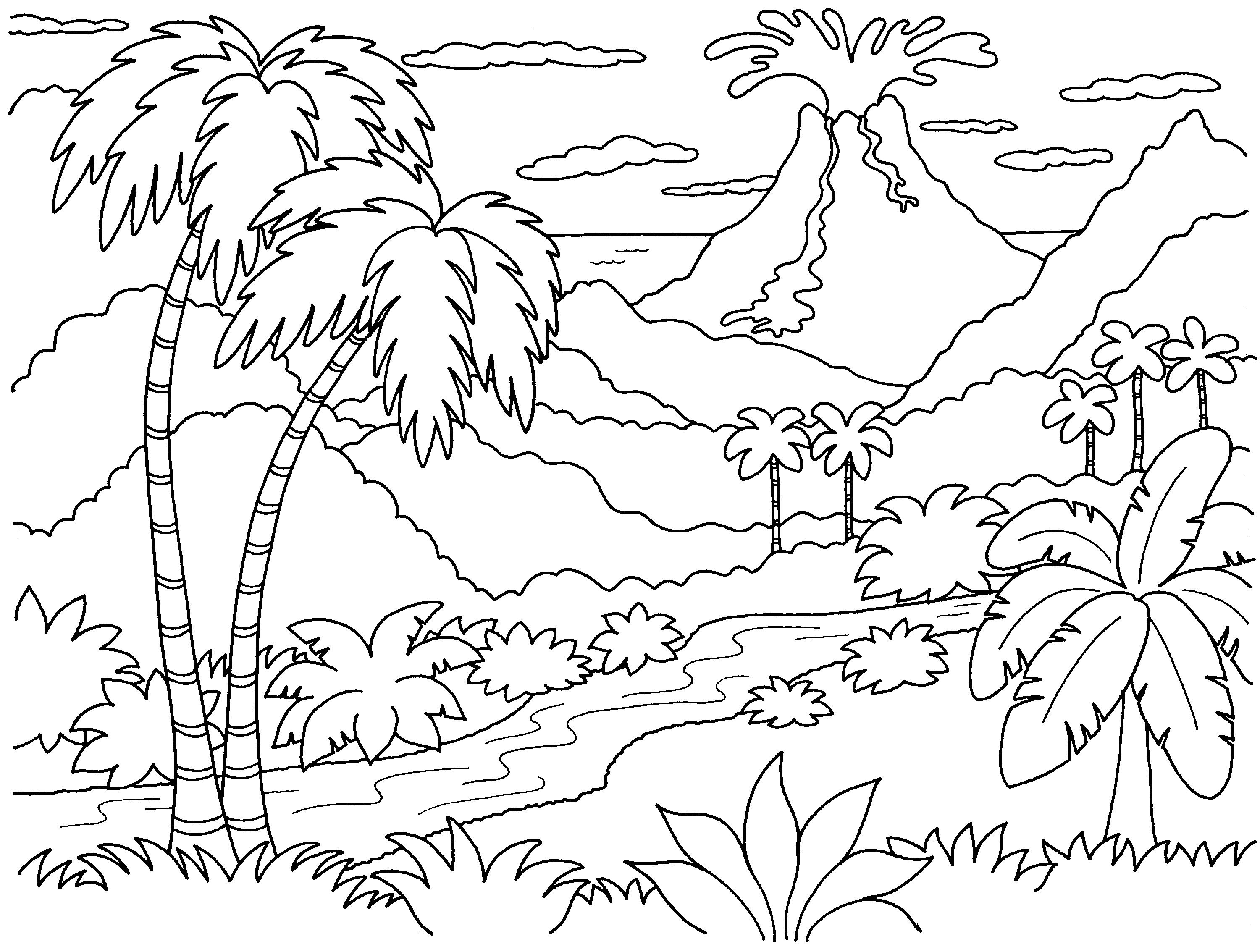 Nature Island Coloring Pages | Print Coloring Pages - Best Island - Free Printable Nature Coloring Pages