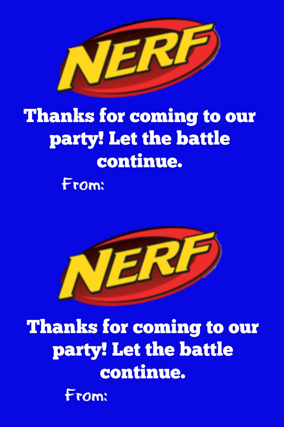 Nerf Party Loot Bag With Free Printable Tags | Jacob's | Nerf - Free Printable Nerf Logo