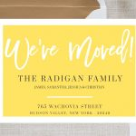 New Home Announcement Postcard, Moving Announcement Cards, New   Free Printable Moving Announcement Templates