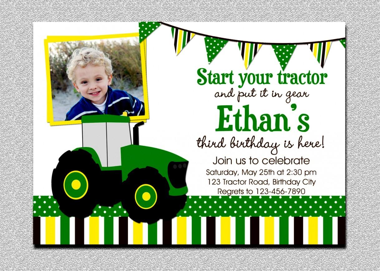 New John Deere Birthday Invitations Free Printable Tractor - Free Printable John Deere Birthday Invitations