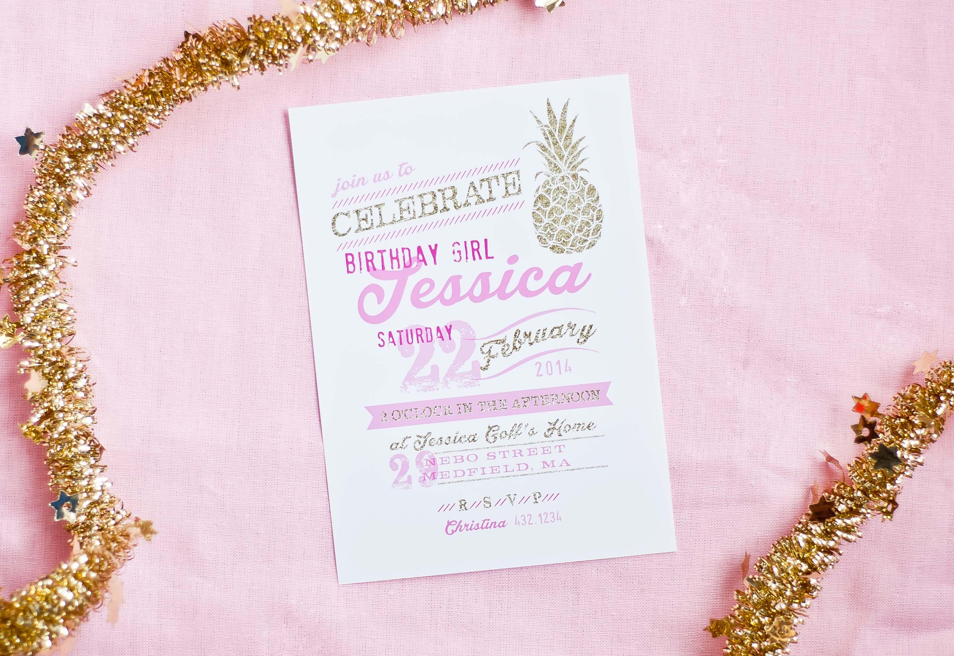 New Theme: Pineapple Party Invitations - Anders Ruff Custom Designs, Llc - Free Printable Pineapple Invitations