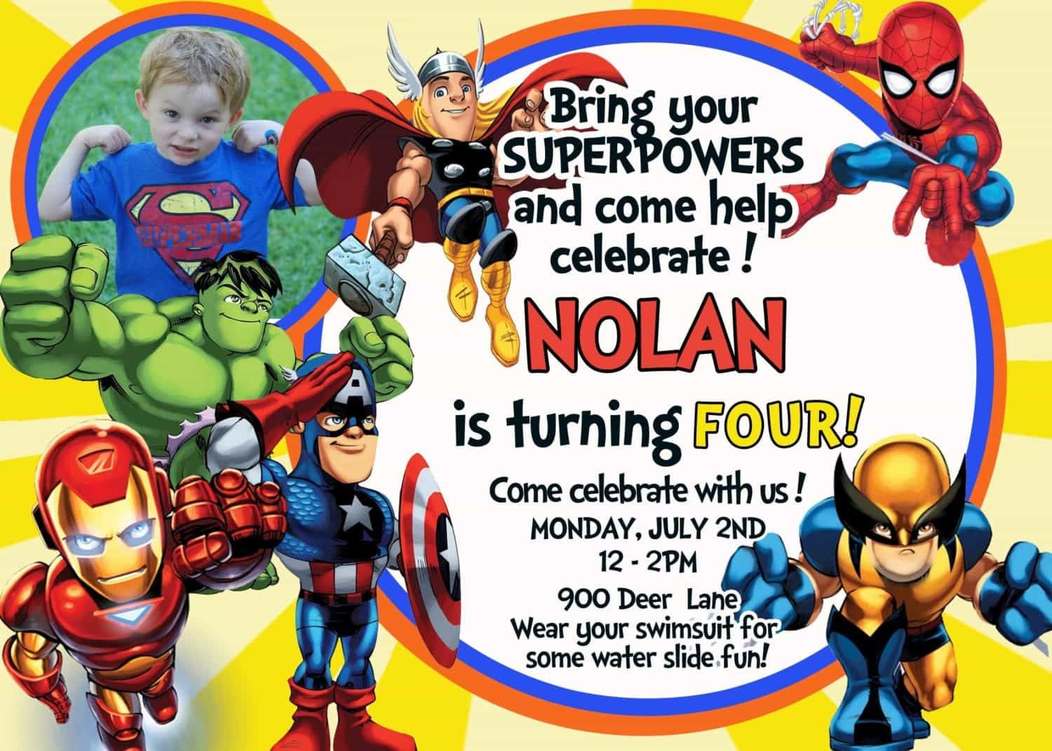 Nice Tips For Choosing Avengers Birthday Invitations Free - Avengers Party Invitations Printable Free