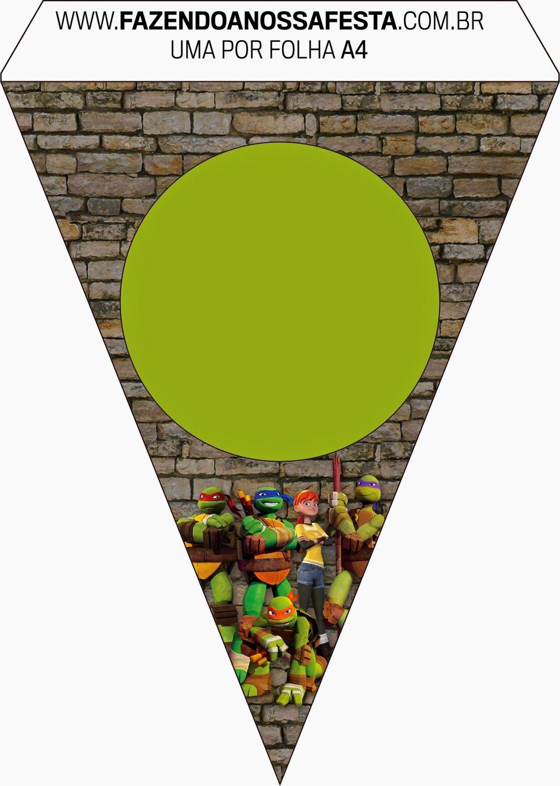 Ninja Turtles Free Party Printables And Invitations. | Party - Free Printable Ninja Turtle Birthday Banner