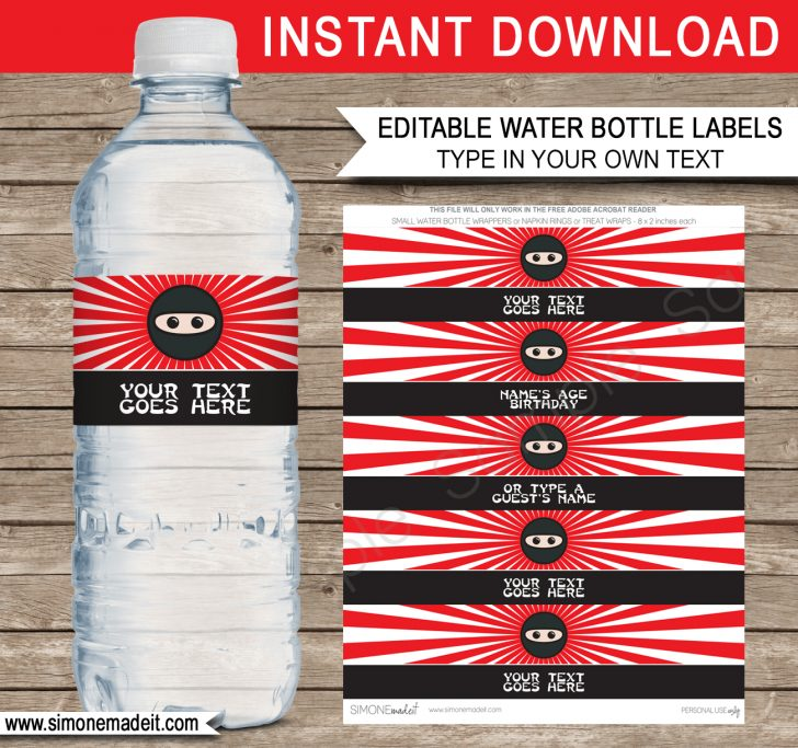Free Printable Paris Water Bottle Labels