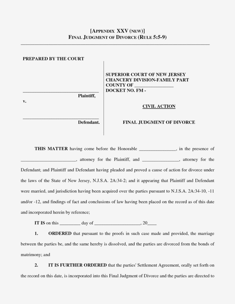 No Fault Divorce Nj Forms Is So Famous, But | Form Information - Free Printable Nj Divorce Forms