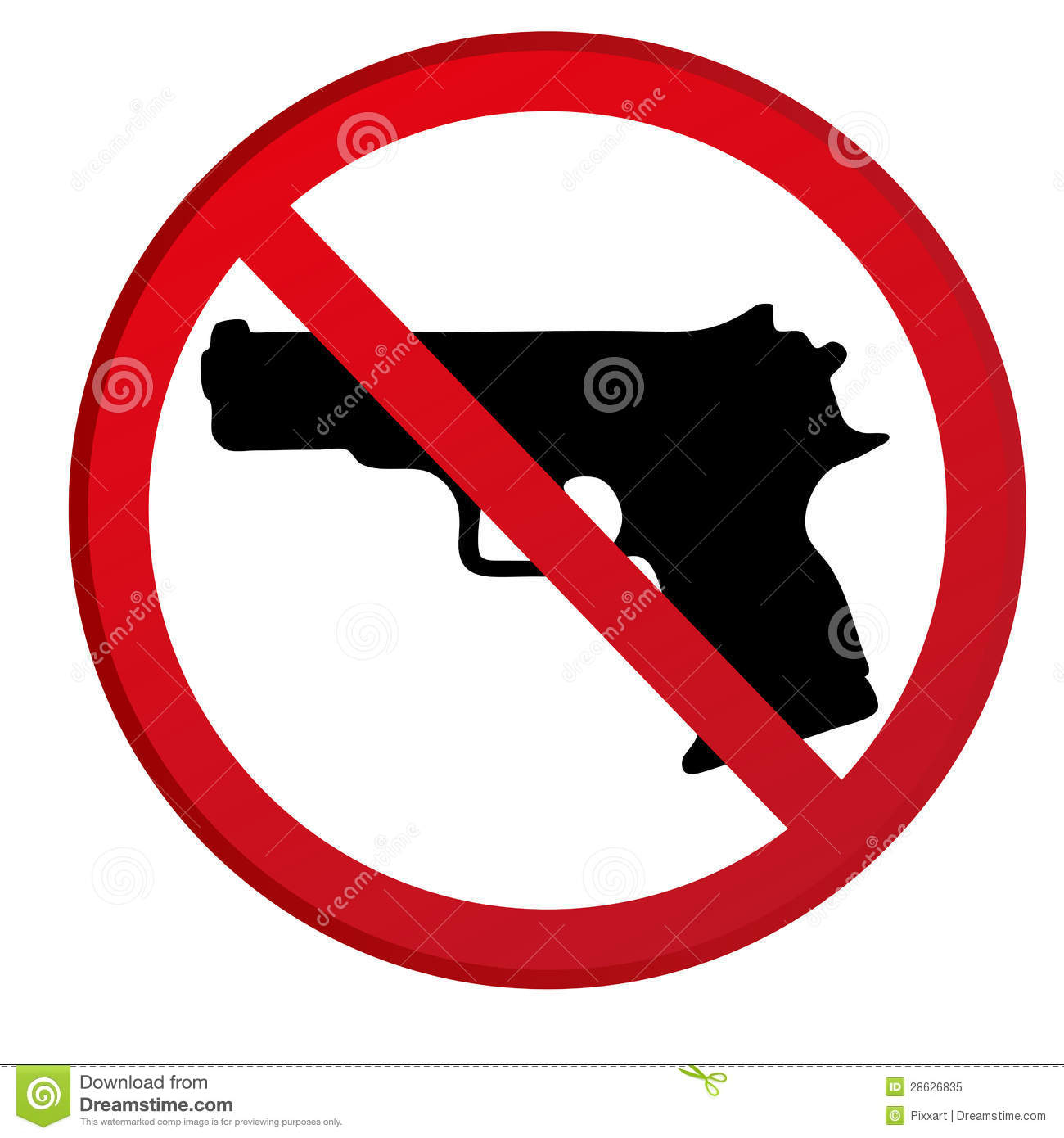 No Picture Allowed Clipart Collection - Free Printable No Guns Allowed Sign