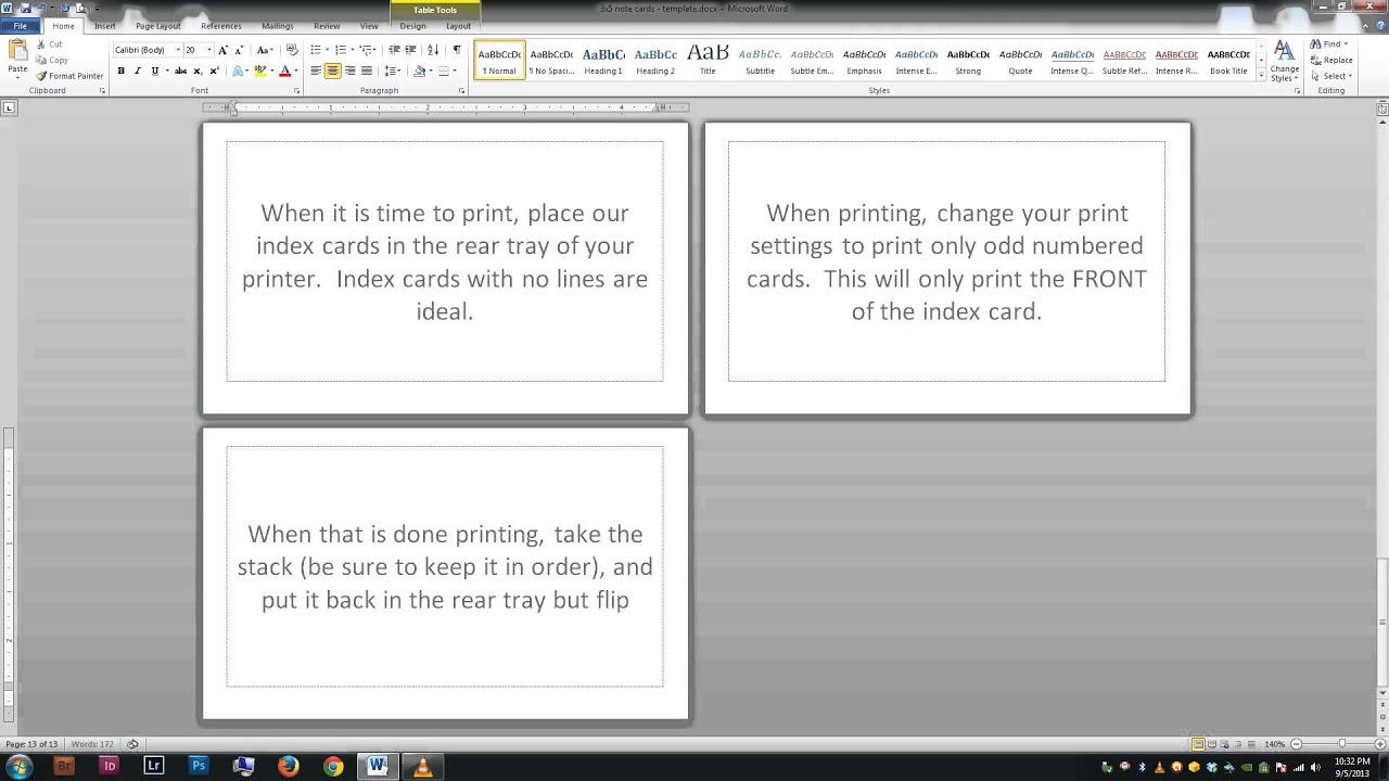 Note/index Cards - Word Template - Youtube - Free Printable Blank Index Cards