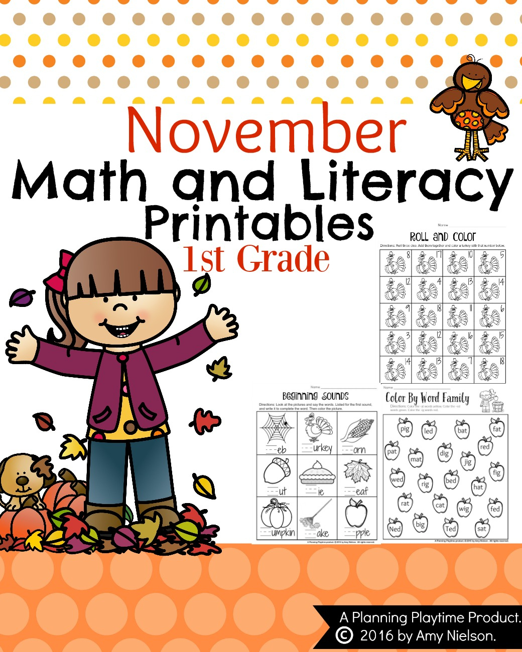 November First Grade Worksheets - Planning Playtime - Literacy Posters Free Printable