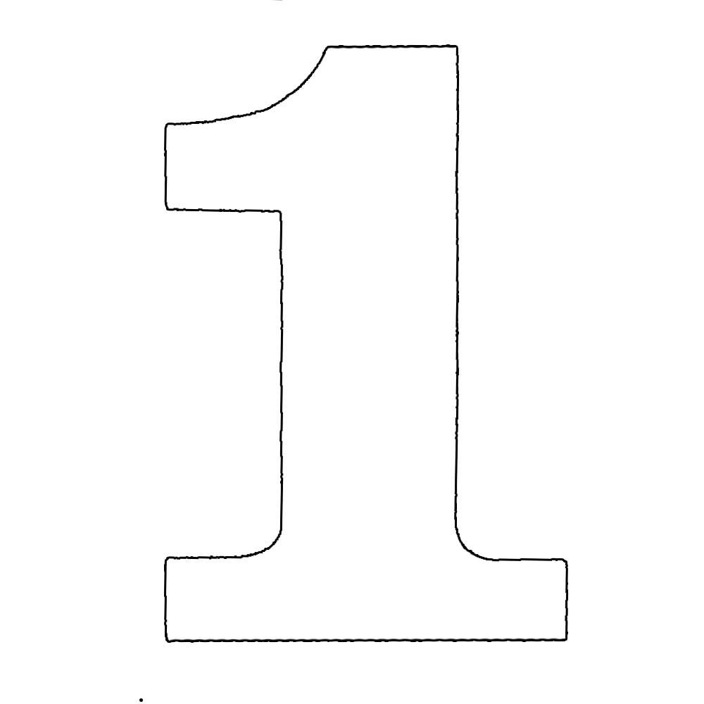Number One Stencil To Cut Out | Numbers - Plasma Image 1 | Grace - Free Printable Bubble Numbers
