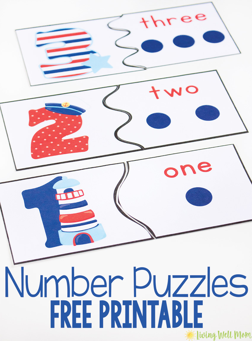 Number Recognition Puzzles - Free Printables - Free Printable Number Posters