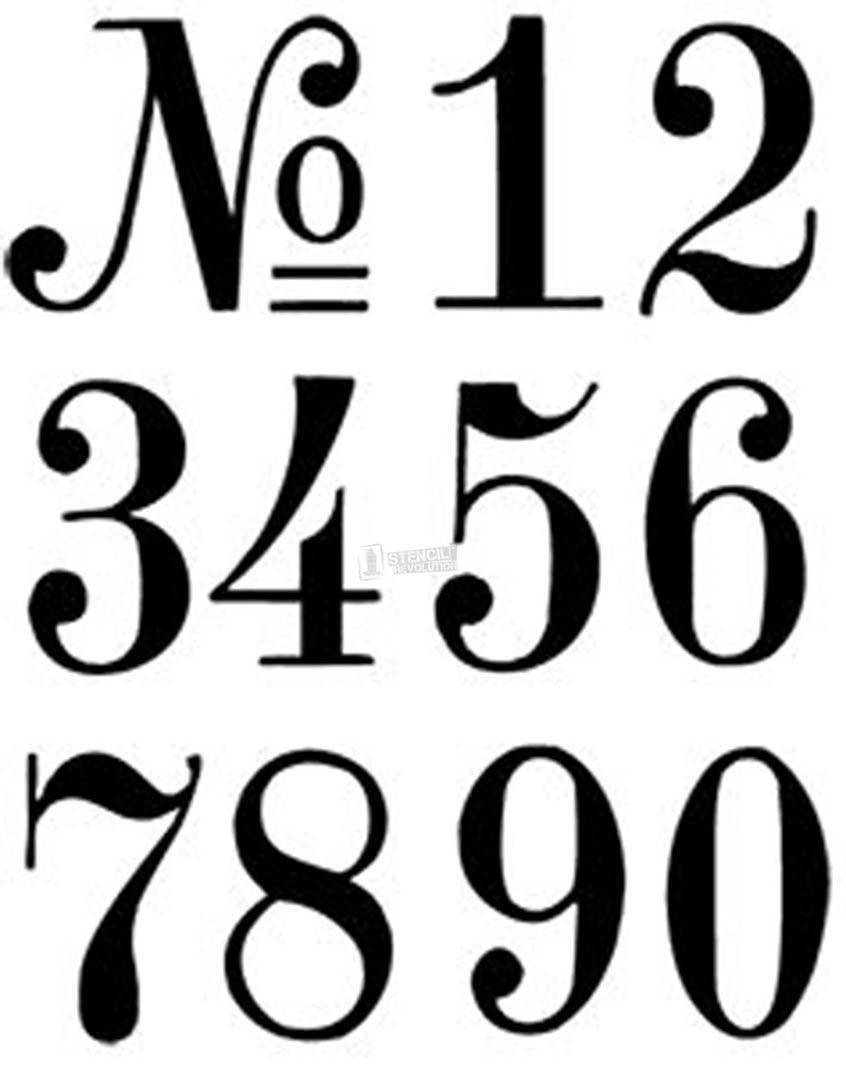 Number Stencils | Crafts | Pinterest | Number Stencils, Letter - Free Printable Fancy Number Stencils