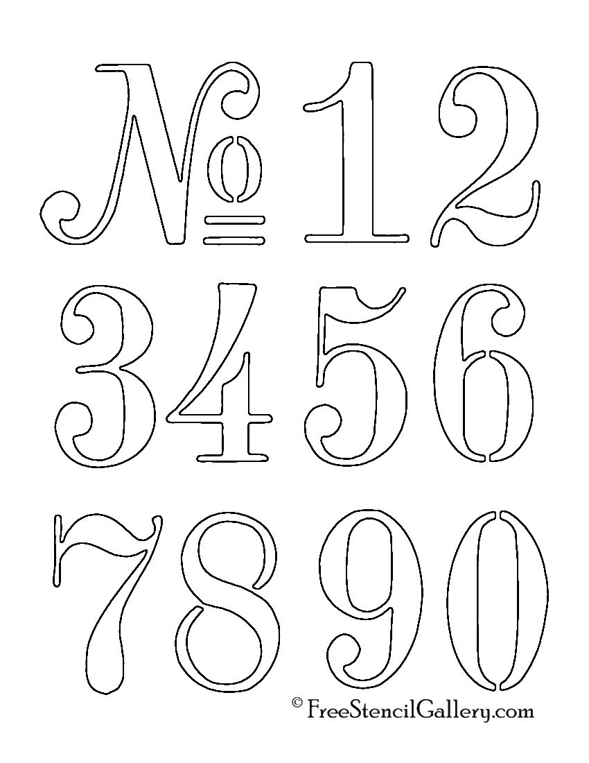 Numbers Stencil … | Outdoor Decor | Stenc… - Free Printable Number Stencils