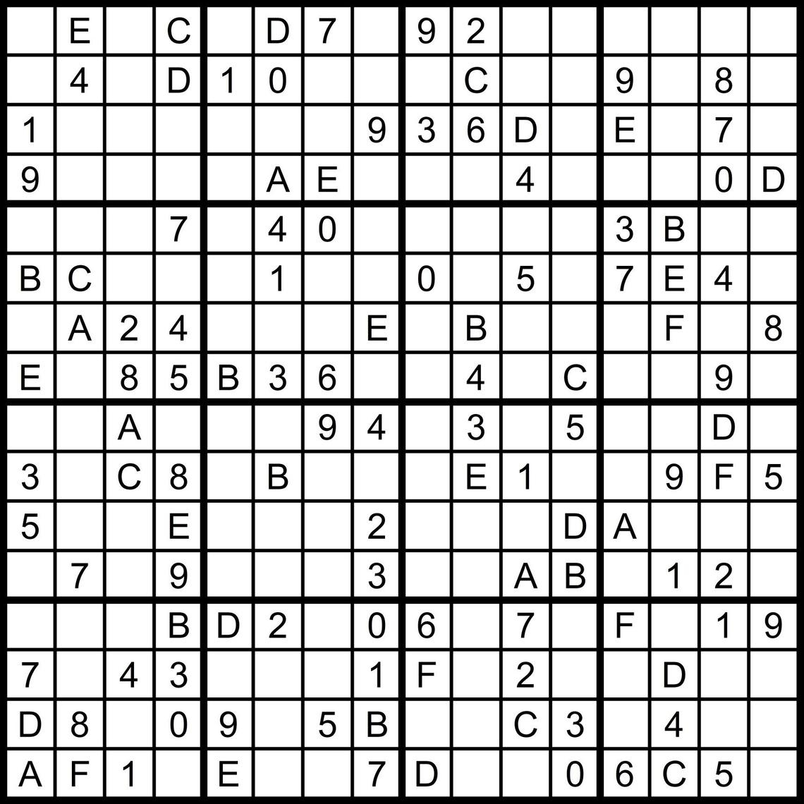 Numbers Super Challenger Sudoku Print   Www.topsimages - Free Printable Super Challenger Sudoku