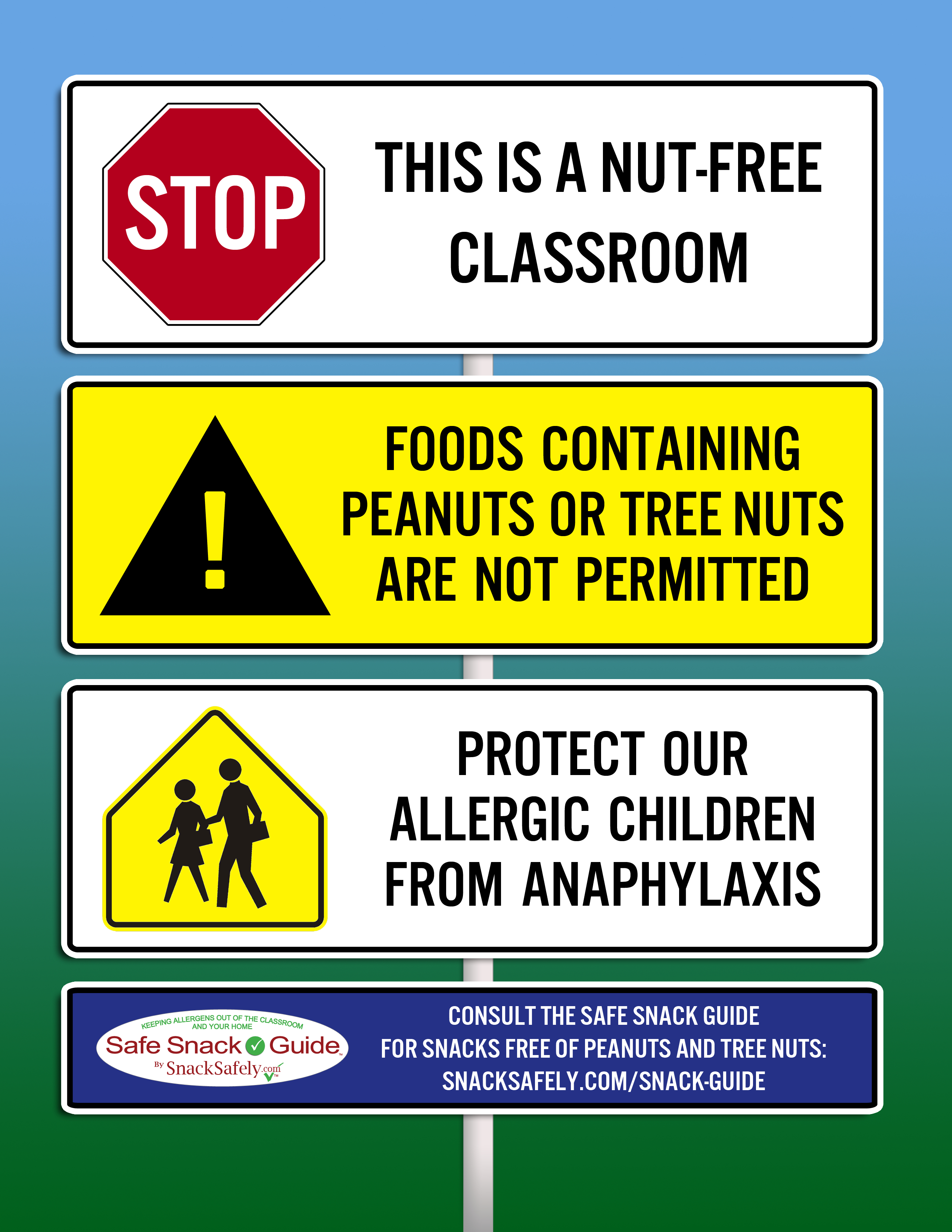 Nut-Free Notice Graphics For Your School   Snacksafely Articles - Printable Peanut Free Classroom Signs