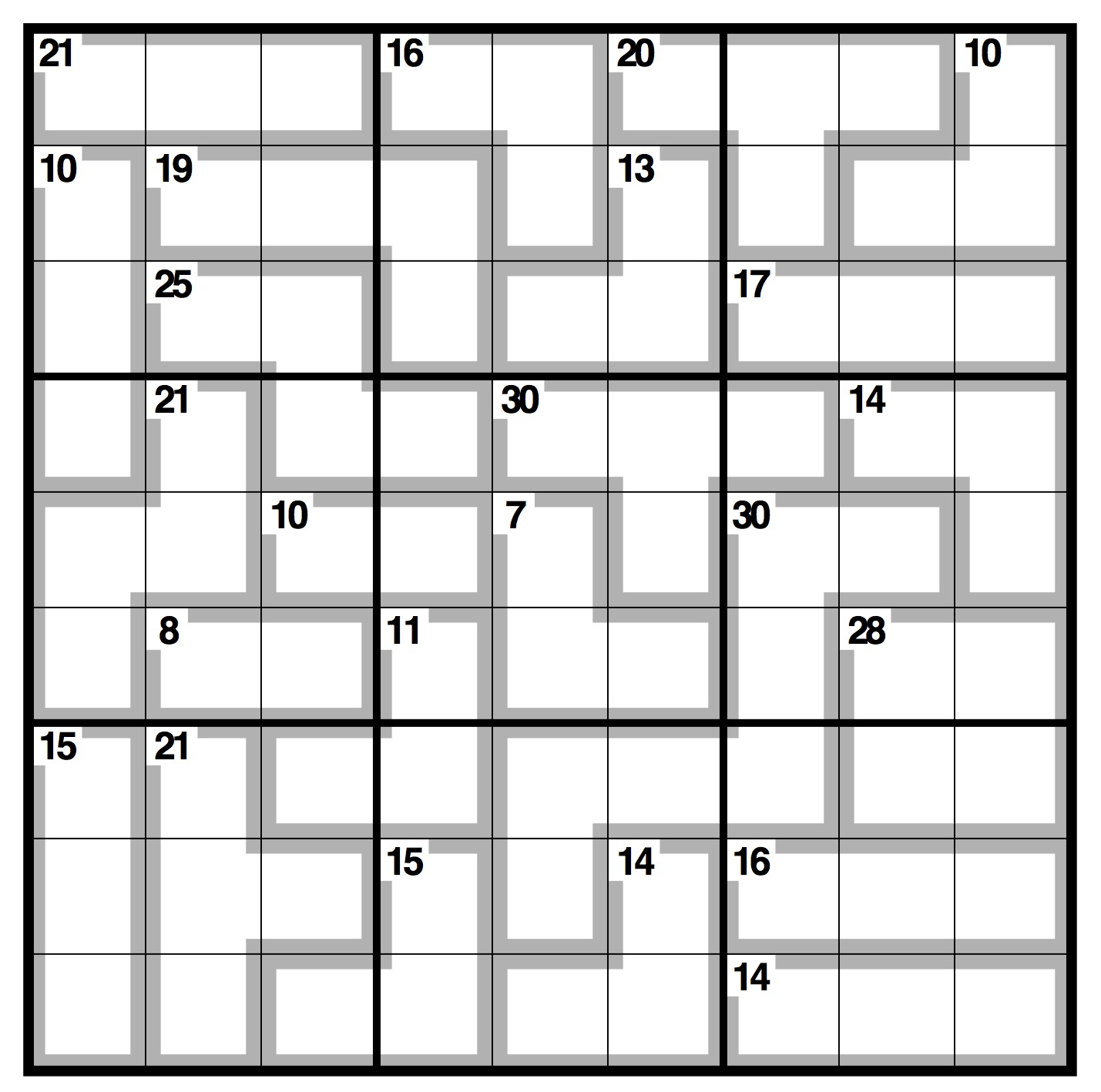 Observer Killer Sudoku | Life And Style | The Guardian - Killer Sudoku Free Printable