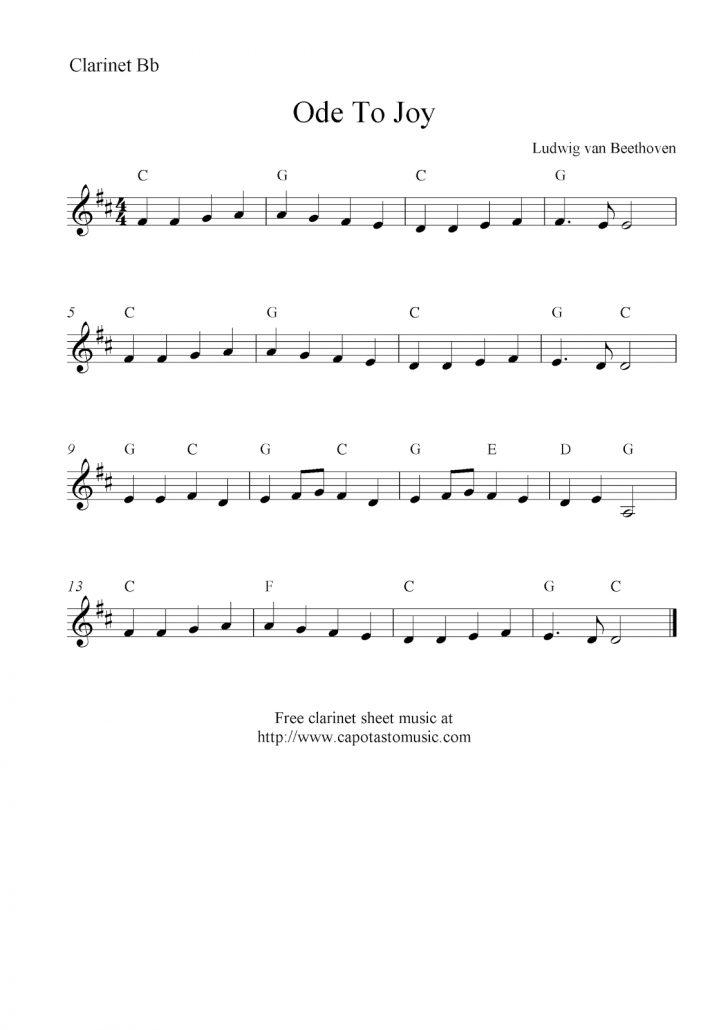 Free Printable Clarinet Music