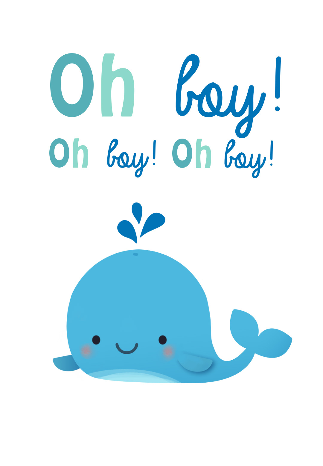 Oh Boy - Free Baby Shower & New Baby Card | Greetings Island - Free Printable Baby Cards