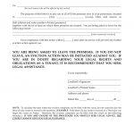 Ohio 3 Day Notice To Quit Form | Non Compliance | Eforms – Free   Free Printable Eviction Notice Ohio