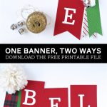 "One Free ""believe"" Banner, Two Ways 