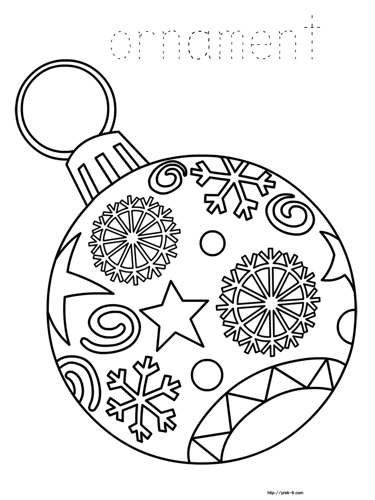 Ornaments Free Printable Christmas Coloring Pages For Kids   Paper - Free Printable Christmas Coloring Pages For Kids