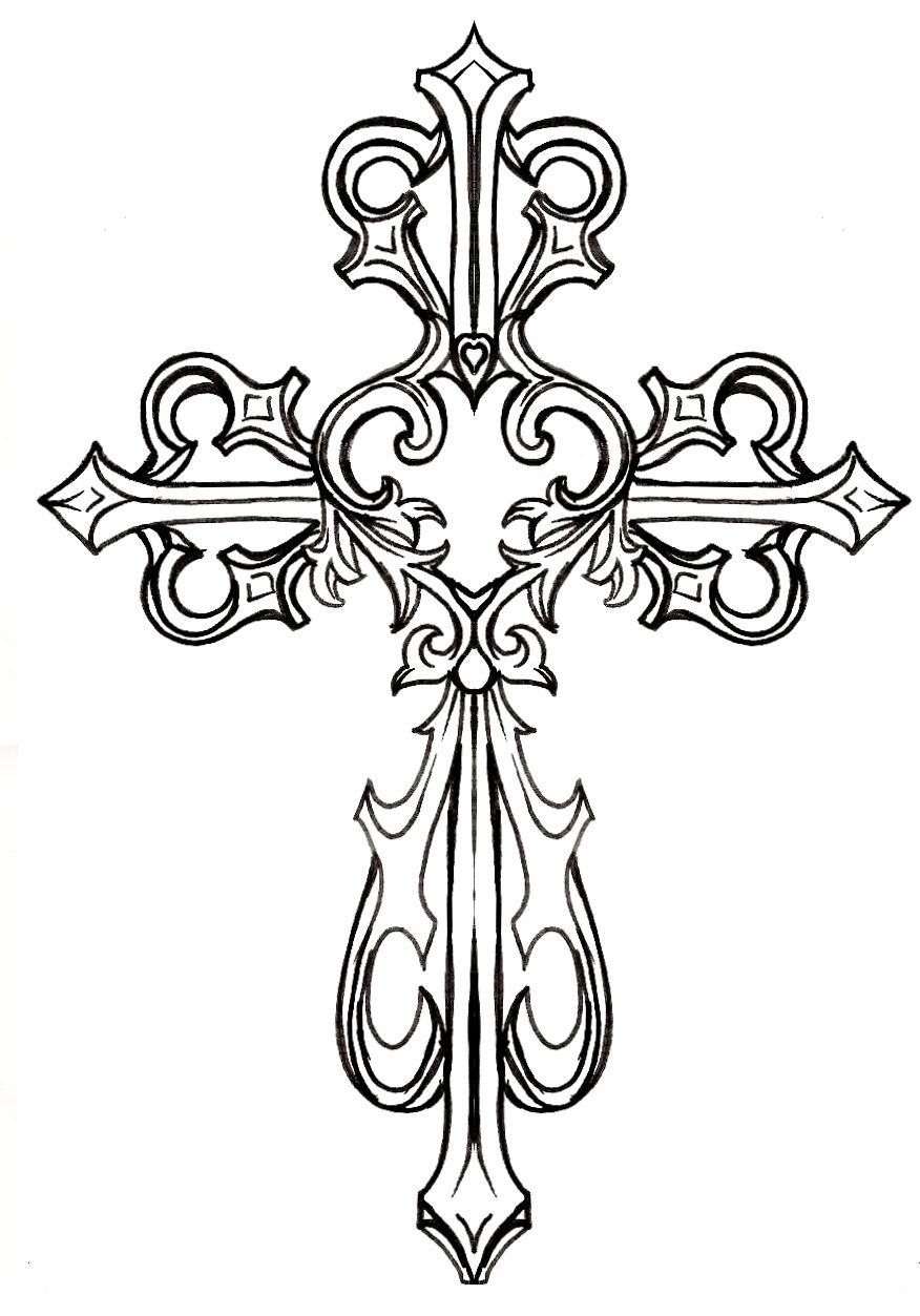 Ornate Cross Clipart #1 | Graphics & Printables | Pinterest | Tattoo - Free Printable Cross Tattoo Designs