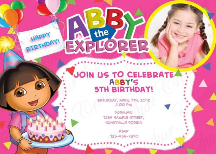 Dora Birthday Cards Free Printable