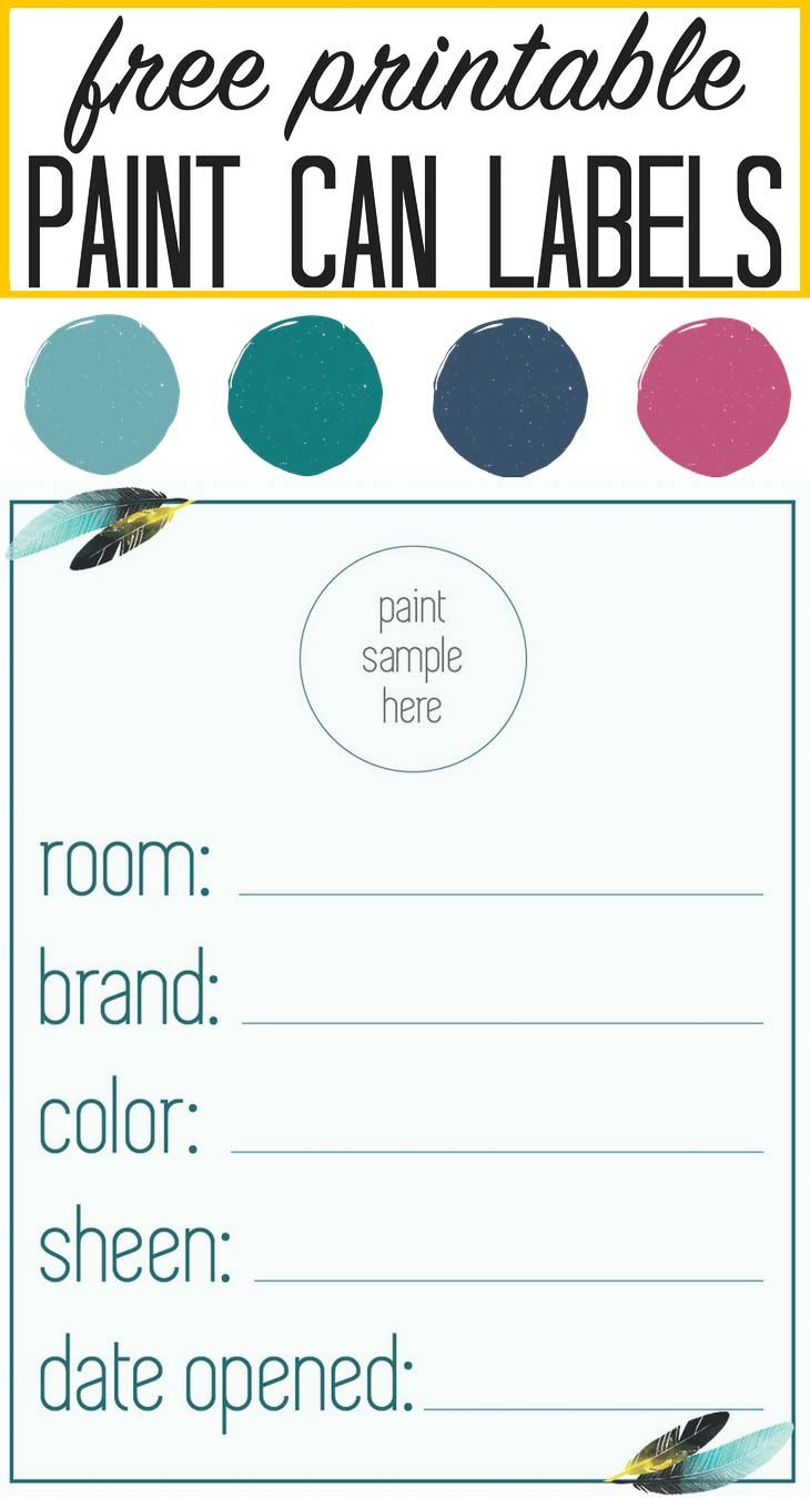 """Our """"in Living Color"""" Paint Palette   Projects To Work On - Free Printable Paint Palette"""