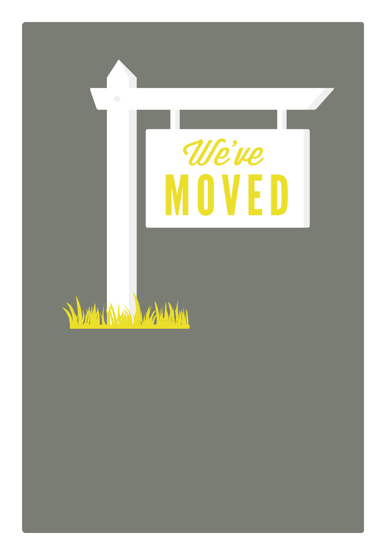 Our New Address - Free Printable Moving Announcement Template - Free Printable Moving Announcement Templates
