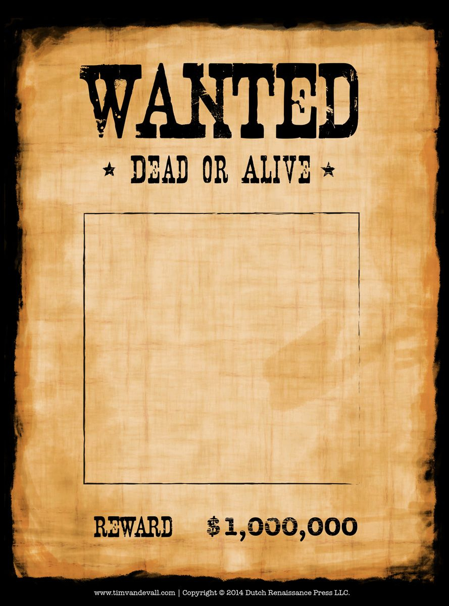 Outlaw Wanted Poster Stock Photos Retro In Wild West Style Just Put - Wanted Poster Printable Free