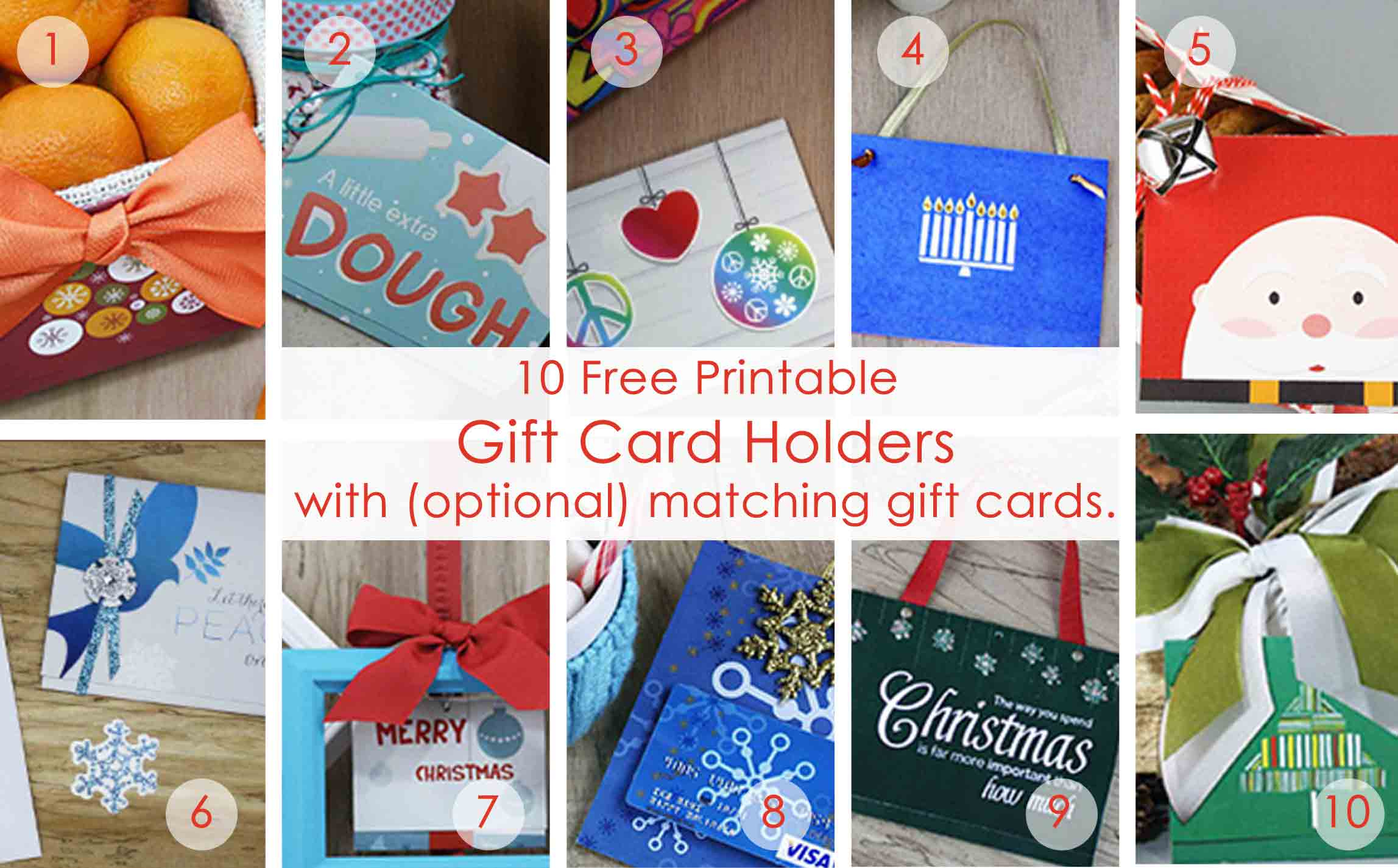 Over 50 Printable Gift Card Holders For The Holidays | Gcg - Christmas Money Wallets Free Printable