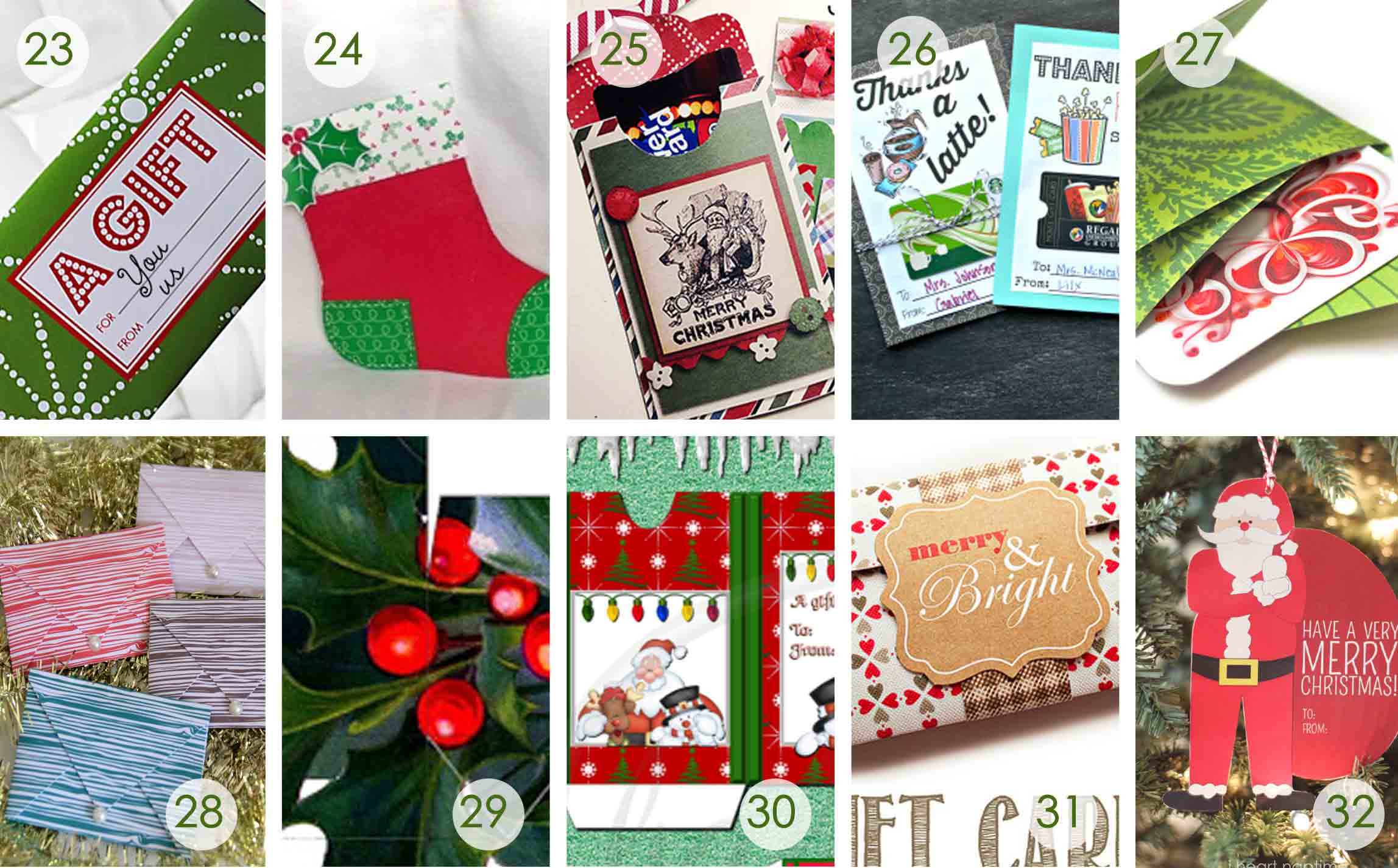 Over 50 Printable Gift Card Holders For The Holidays | Gcg - Free Printable Christmas Money Holder Cards
