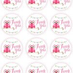 Owl Birthday Party With Free Printables | תגיות  Labels   Free Printable Thank You Tags For Birthday Favors