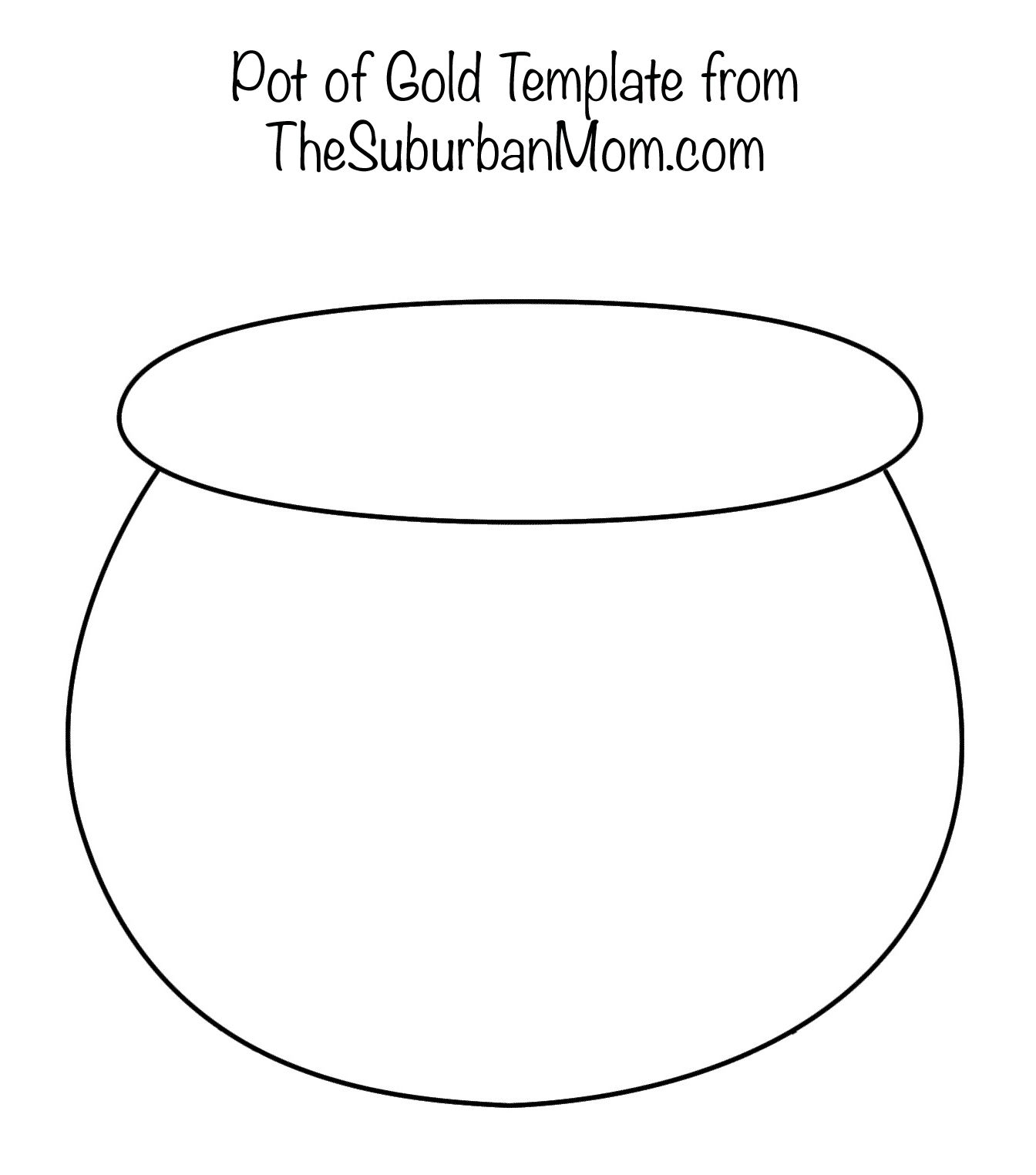Painting Rainbows With Q-Tips + Free Printable Template - Pot Of Gold Template Free Printable