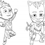 Pajama Hero Connor Is Catboy From Pj Masks Coloring Page | Free   Free Printable Pajama Coloring Pages